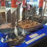 Zheng He's treasure ship dwarfs Columbus' Santa Maria.