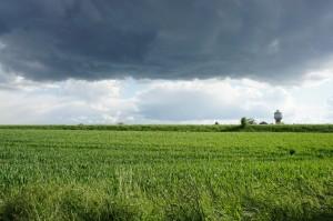 Clouds over the Edingen watertower